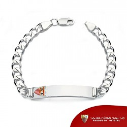 Esclava escudo Sevilla FC plata de ley 20cm. cadete maciza [8514]