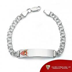 Esclava escudo Sevilla FC plata de ley caballero maciza [8516]