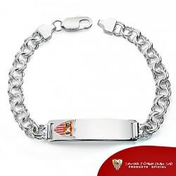 Esclava escudo Sevilla FC plata de ley caballero maciza [8517]