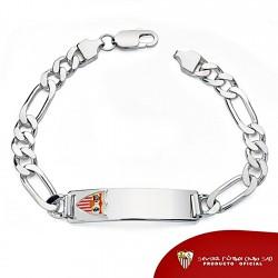 Esclava escudo Sevilla FC plata de ley caballero maciza [8520]