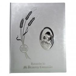 Libro Primera Comunión albúm detalle plata Ley 925m chica [8807]