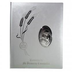 Libro Primera Comunión albúm detalle plata Ley 925m chico [8808]