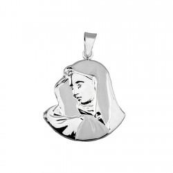 Colgante plata ley 925m Virgen 30mm. silueta ancho 26mm. mujer