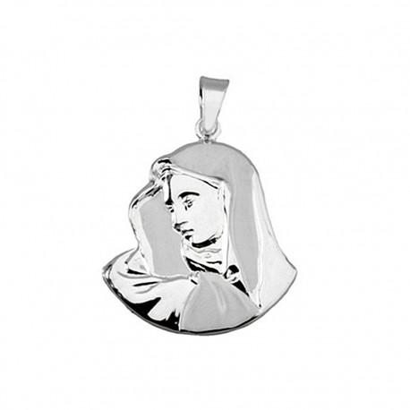 Colgante plata ley 925m Virgen silueta [8845]