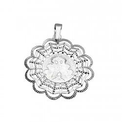 Medalla plata ley 925m Virgen Rocío [8849]