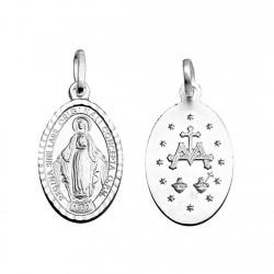 Colgante plata ley 925m. Virgen Milagrosa 21mm. medalla oval [8904]