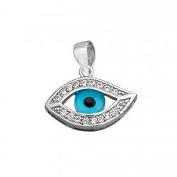 Colgante plata ley 925m. ojo de la suerte circonitas [8927]