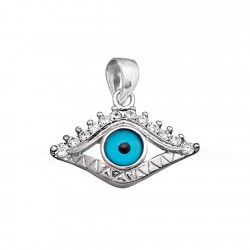 Colgante plata ley 925m. ojo de la suerte circonitas [8930]