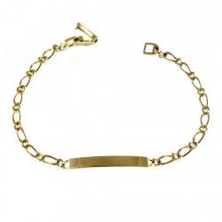 Esclava chapada oro 18,5cm. cartier 1x1 [2697]