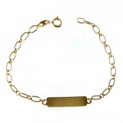 Esclava chapada oro 19cm. eslabón ovalado [2724]