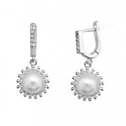Pendientes plata 925 rodiada plata orla de circonitas y [9203]