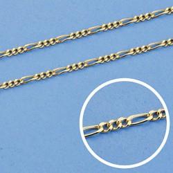Cadena oro 18k cartier 50 cm hueca 1 mm. 1,80 gr [9446]