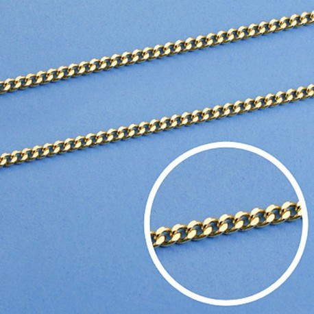 Cadena oro 18k barbada maciza 50 cm 2,5 mm. 11.75 gr [9452]