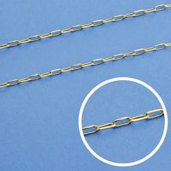 Cadena oro 18k maciza forzada. 50 cm. 1,2 mm. 2.75 grs. [9455]
