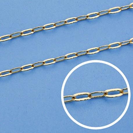 Cadena oro 18k maciza forzada. 50 cm. 2,5 mm. 6.00 grs. [9456]