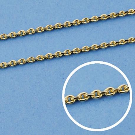 Cadena oro 18k maciza forzada 40 cm. 1 mm. 2.60 grs. [9458]