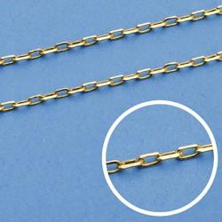 Cadena oro 18k maciza forzada 45 cm. 1.2 mm. 2.85 grs. [9495]