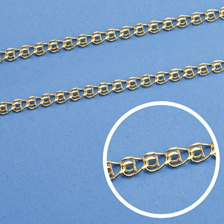 Cadena oro 18k maciza love 40 cm. 2,5 mm. 3.80 grs. [9503]