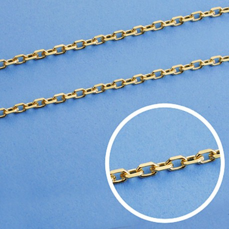 Cadena oro 18k maciza forzada 50 cm. 2,5 mm. 9.35 grs. [9506]