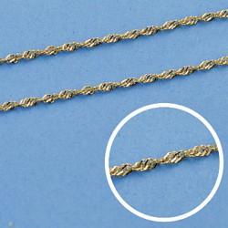 Cadena oro 18k maciza singapur 45 cm. 1,2 mm. 1.60 grs. [9511]
