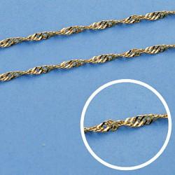 Cadena oro 18k maciza singapur 40 cm. 1,8 mm. 2.75 grs. [9517]