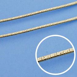 Cadena oro 18k maciza plana 45 cm. 1,5 mm. 6.30 grs. [9538]