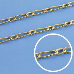 Cadena oro 18k eslabón 1x1 hueca 50cm. ancho 4,5 mm. 11.50 grs. [9541]