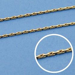 Cadena oro 18k maciza avena 40 cm. 1 mm. 2.75 grs. [9547]