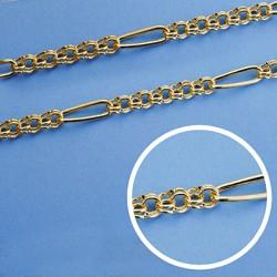Cadena oro 18k hungara hueca 50 cm 4,5 mm. 13.15 grs. [9560]