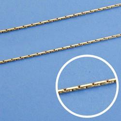 Cadena oro 18k maciza avena 45 cm. 1 mm. 4.40 grs. [9563]