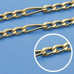Cadena oro 18k hueca 45cm. eslabón 3x1 ancho 4,5mm. 11.50 grs. [9570]