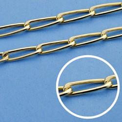 Cadena oro 18k hueca bilbao 50 cm. 4 mm. 8.25 grs. [9573]