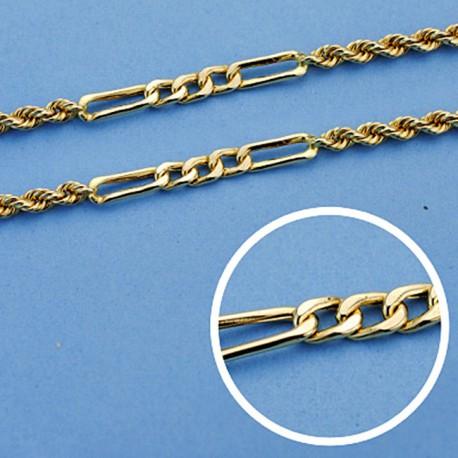 Cordón cadena oro 18k hueca cartier 50 cm. 3 mm. 11.25 grs. [9581]