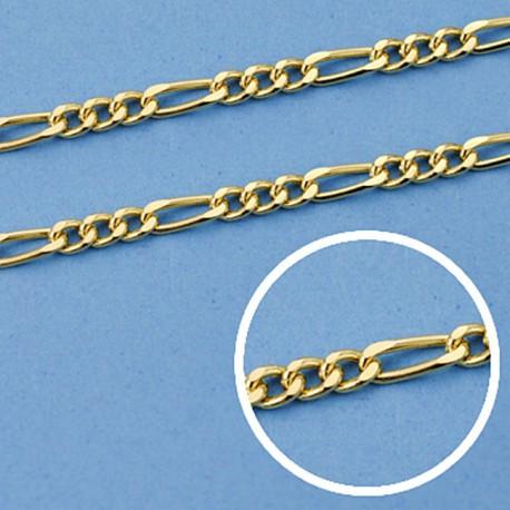 Cadena oro 18k hueca cartier 3 x 1 45 cm. 2,5 mm. 4.75 grs. [9604]
