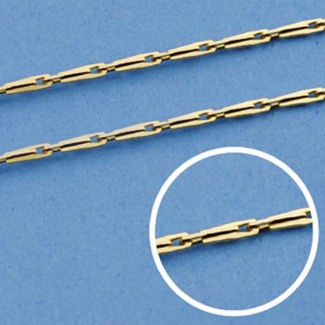 Cadena oro 18k maciza avena 45 cm. 1 mm. 3.20 grs. [9607]