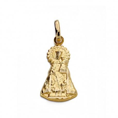 Medalla oro 18k Virgen Desamparados silueta 21mm. [AA0005]