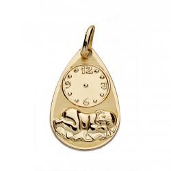 Medalla oro 18k niño reloj 19mm. [AA0058]