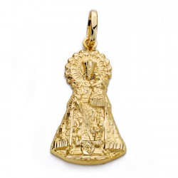 Medalla oro 18k silueta Virgen Desamparados 33mm. [AA0111]