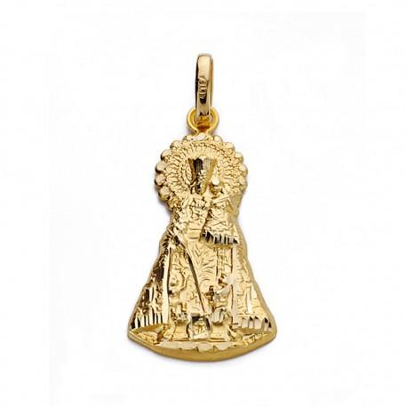 Medalla oro 18k silueta Virgen Desamparados [AA0130]