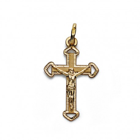 Colgante cruz oro 18k Cristo 23mm. [AA0189]