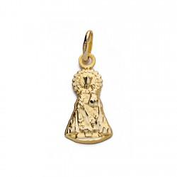 Medalla oro 18k silueta Virgen Desamparados 17mm. [AA0198]