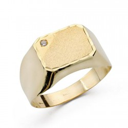 Sello oro 18k caballero circonita [AA0415]