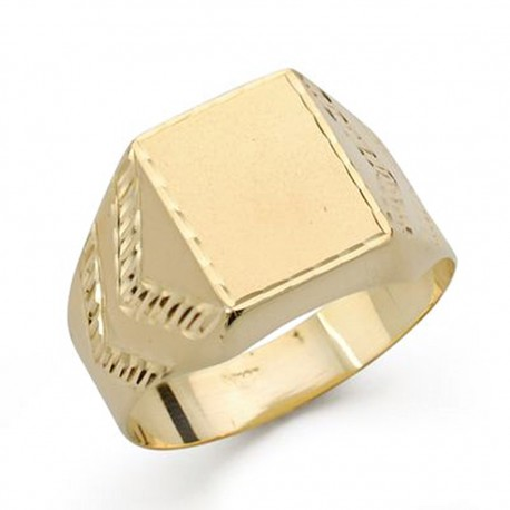 Sello oro 18k caballero tallado [AA0418]