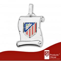 Colgante pergamino escudo Atlético de plata de ley esmalte [AA0483]