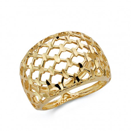 Sortija oro 18k tallada calada [AA0494]