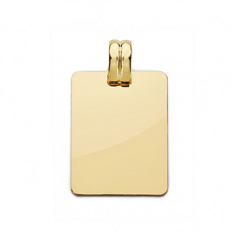 Colgante chapa oro 18k lisa 24mm. [AA0519]