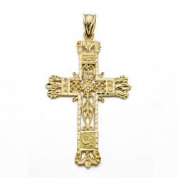 Colgante cruz oro 18k fiigrana 47mm. [AA0523]