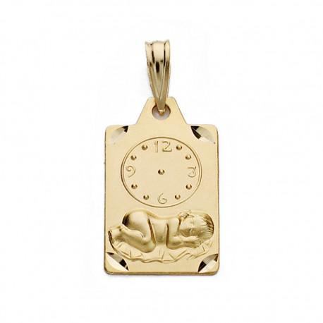 Medalla oro 18k niño reloj 19mm. [AA0579]