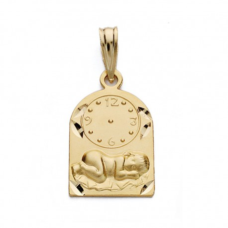 Medalla oro 18k niño reloj 18mm. [AA0581]