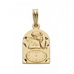 Medalla oro 18k ángel reloj 18mm. [AA0586]